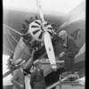 Close-ups of Fokker F.32, Western Air Express, Southern California, 1930