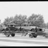 Ford trailers at Exposition Park, Los Angeles, CA, 1930