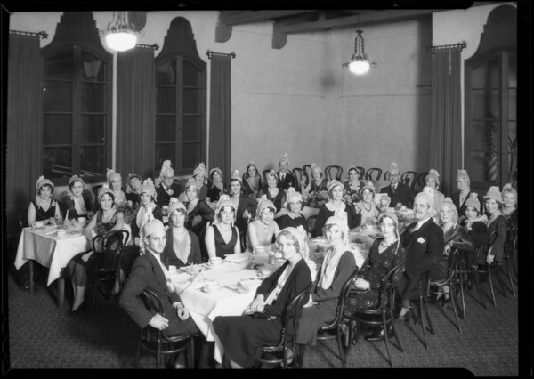 Purchasing department banquet at Pollyanna tea room at 2228 West 7th Street, Los Angeles, CA, 1930