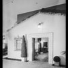 Exterior of model home in May Company's store, Southern California, 1930