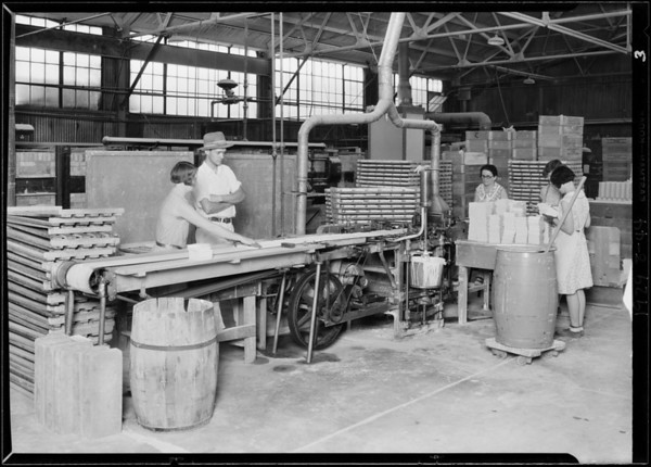 Interior shots of plant in Glendale, CA, 1929