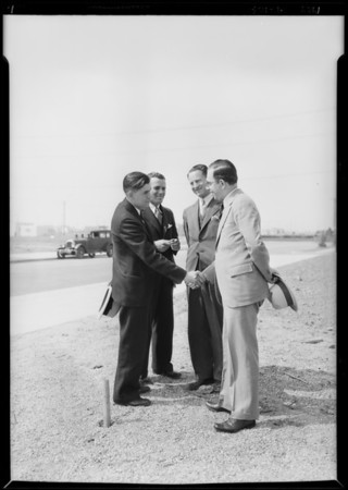 J. M. Hattem at Vermont Avenue Knolls, Los Angeles, CA, 1929