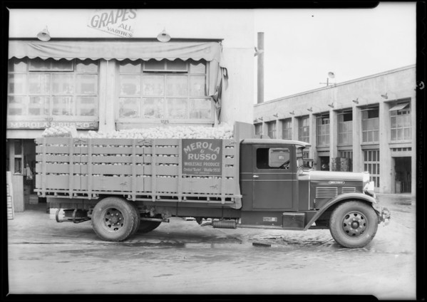Merola & Russo truck, Southern California, 1931
