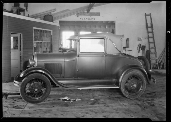 Ford coupe, W. G. Gordon owner, Southern California, 1931
