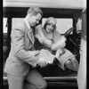 Sally Blane, seat covers, Southern California, 1930