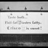 Crisco billboard, Southern California, 1931