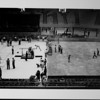 Los Angeles Memorial Sports Arena, interior view, Memorial Day dedication ceremony, gymnastics demonstration