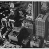 Aerial view of Downtown Los Angeles, Third Street, One Wilshire
