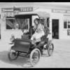 Diamond tires on Pierce-Arrow with Dorothy Granger, Southern California, 1930