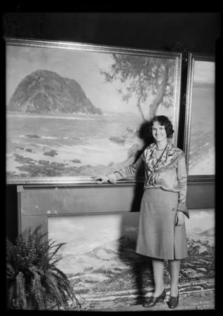 Mayor Porter etc. at California land show, Southern California, 1930
