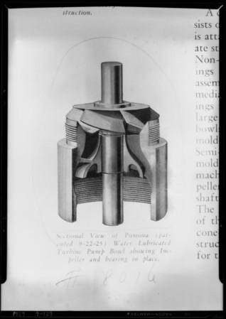 Pump bowl, copy of halftone, Southern California, 1929