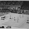 Los Angeles Sports Arena, interior view, Memorial Day dedication ceremony, badminton demonstration