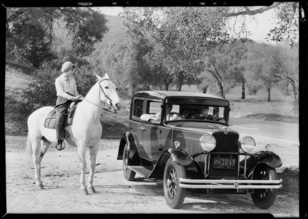 Nash sedan, economy run, Southern California, 1931