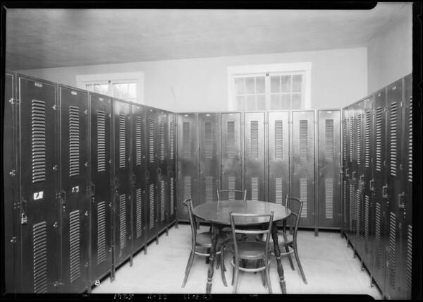 Worley lockers, Los Serranos Country Club, Chino, CA, 1925