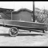 Boat and trailer, Mr. Higgins, Southern California, 1931