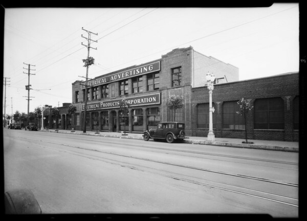 Buildings on 16th Street, Electrical Products Corporation, Southern California, 1931