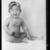 Baby photo, Mr. Grazier, Southern California, 1931