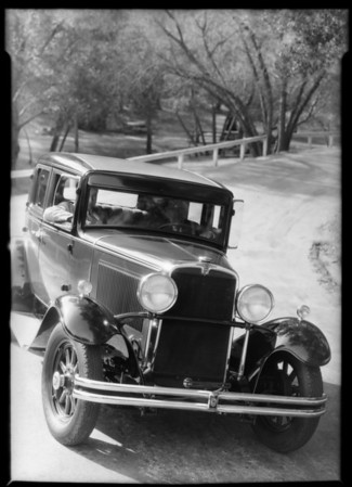 Nash sedan, economy run, Southern California, 1931