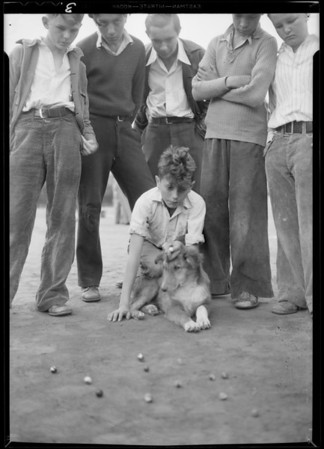 Marble champions at Echo playground, Southern California, 1931