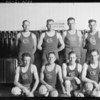 Basketball team, First National Bank of Whittier, Southern California, 1925