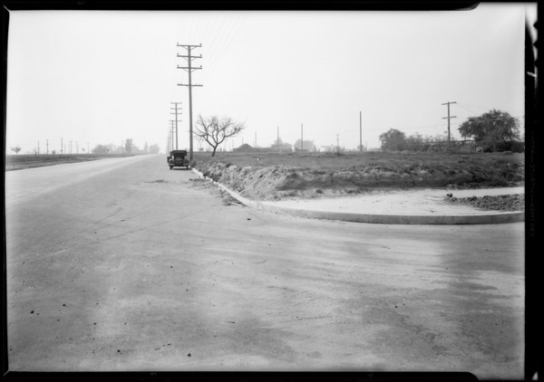Intersection, North Parish Place and West Victory Boulevard, Hamilton versus Larkin, Burbank, CA, 1931