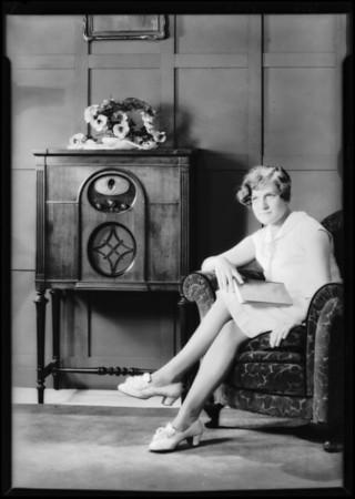 Silver Radio publicity shots, Southern California, 1929