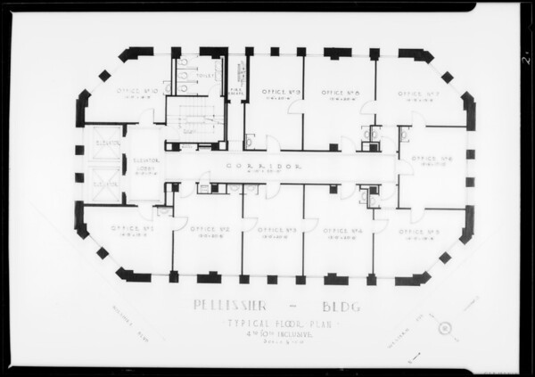Floor plans, Pellissier Building, Southern California, 1930