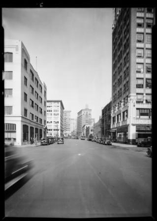 Street scenes, East 8th Street & South Los Angeles Street & Santee Street, Los Angeles, CA, 1931