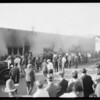 Studio fire, Southern California, 1925