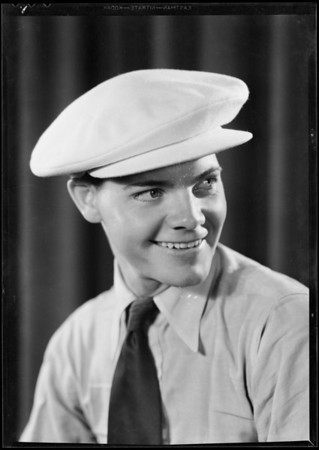 Eddie Quillan wearing white cap, Southern California, 1931