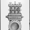 Big orifice fitting, Robinson Orifice Fitting Co., Southern California, 1929