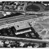 Aerial photograph of the I-5 Freeway showing a commercial building at 2333 West Broadway, Santa Ana, CA