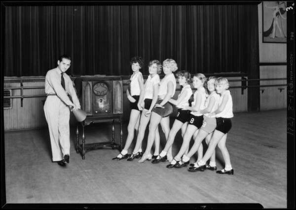 Tap dancers at Belchers, Southern California, 1929