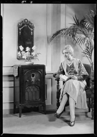 Publicity shots, Majestic Radio, Southern California, 1931