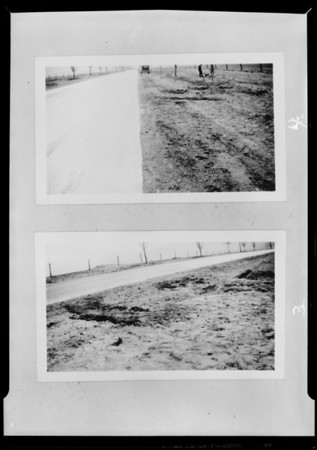 Kodak negatives of scene of accident, B & O Truck Co., Southern California, 1931