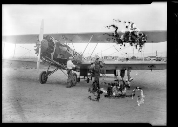 "Airport shots, ""Boeing plant & plane"", Southern California, 1929"
