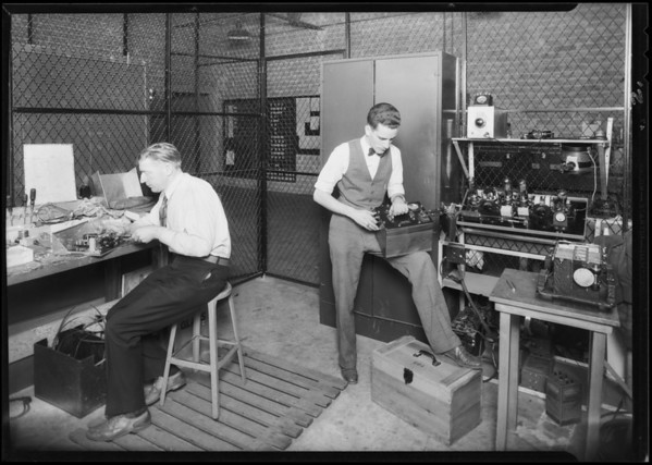 Radio devices on ships, Southern California, 1930