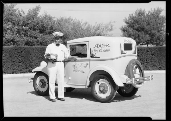 Adohr creamery car, Austin Los Angeles Co., Southern California, 1930
