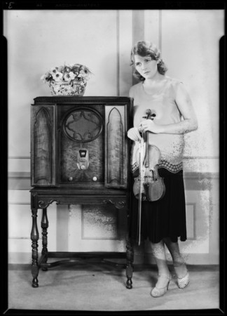 Yanesse Olson - Million Dollar Theater violinist, Majestic Radio, Southern California, 1929