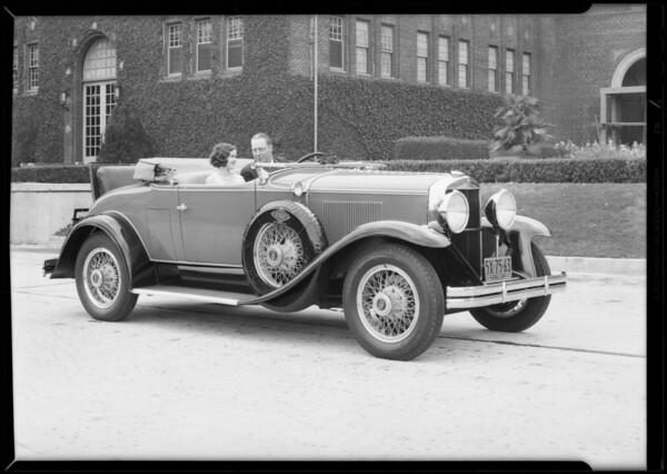 Used car & girl, Southern California, 1930