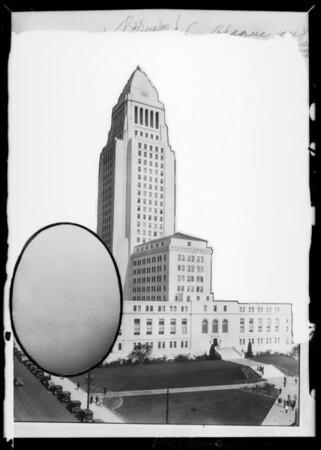 Copy of City Hall & egg, Los Angeles, CA, 1929