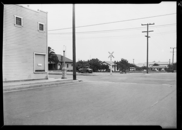 Intersection of Orange Street & South Palm Avenue, Alhambra, CA, 1929