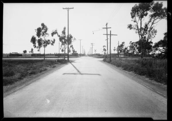 Intersection of Chicago & Hawthorne Boulevard, Southern California, 1929