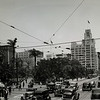 Facing north on South Hill Street at West Fifth Street at Pershing Square in Downtown Los Angeles