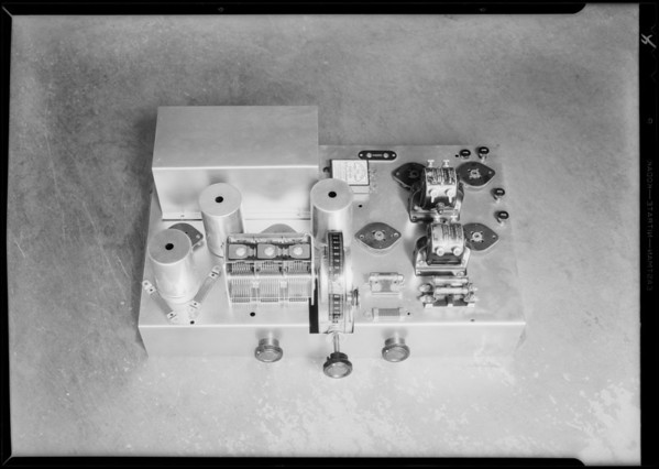 Radio chassis and parts, Southern California, 1931