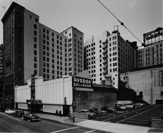 Spring Street and Ninth Street, Avodon Ballroom, Garland Building at 117 West Ninth Street