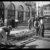Workmen in street, Southern California, 1931