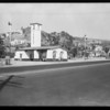 Service station at North Cahuenga Boulevard & Hollywood Boulevard, Los Angeles, CA, 1930