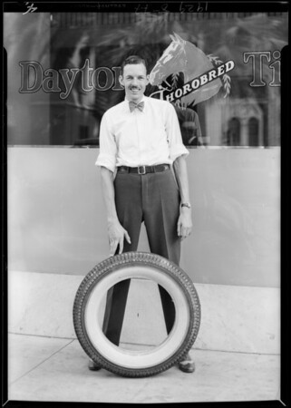 Tall service clerk, Dayton Tire Co., Southern California, 1929