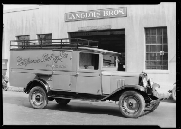 California Baking Co. truck, Southern California, 1929